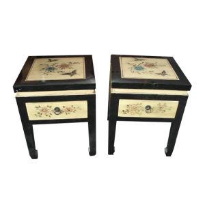Muebles antiguos chinos pintados de madera taburete lws060 for Muebles antiguos chinos