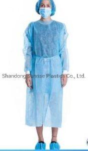 Cuidados pessoais isolamento descartáveis bata descartável de vestuário de protecção