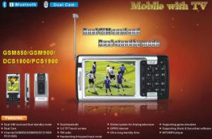 Il quadrato lega il telefono mobile doppio di SIM TV (V66i)