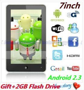 7 il PC METÀ DI 512MB/4GB WiFi/HDMI del ridurre in pani del Android 2.3 di Haipad M701r Telechip 8902 di pollice Multi-Tocca (Ns-639
