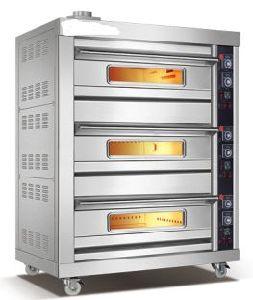 Commerciële Oven Twee Dek Vier van het Gas van het Roestvrij staal Dienblad (wfc-306Q)