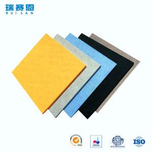 écrans antibruits de fibre de polyester d'épaisseur de 6.5mm, panneau ignifuge pour le mur et plafonds