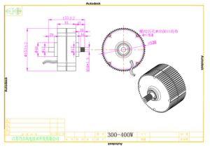 300W 12V/24V 저속 축 유출 영구 자석 발전기