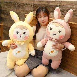 La suerte de juguete de peluche de conejo precioso regalo de cumpleaños del corazón