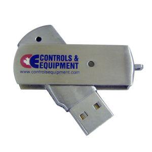 Высокое качество 8ГБ флэш-накопитель USB поворота Silvery рекламных подарков
