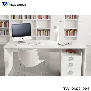 人工的な石造りの現代商業事務机白いCEO表の家具