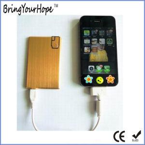 4mm+Metal forma de tarjeta de plástico con el Banco de potencia conectado por USB (XH-PB-253)