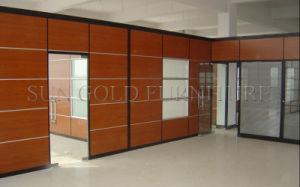 Oficina moderna puerta exterior de aluminio Panel de pared interior de la partición de la puerta (SZ-WST781)