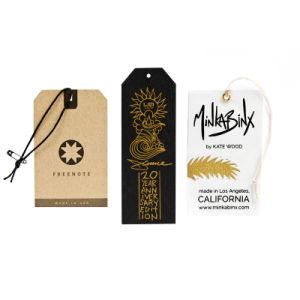 Diseño personalizado ropa colgar etiquetas de papel reciclado