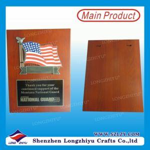 Piastra di legno del carter del ricordo di rettangolo del premio dell'esercito americano
