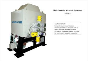 Separatore magnetico di alta pendenza bagnata per caolino