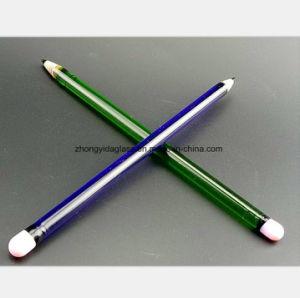 Blauer, grüner Bleistift-Glaswasser-Rohr des Anredens des Huka-Rohres