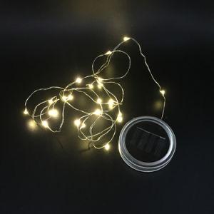 Luz de fadas de LED de energia solar para a tampa da jarra Mason Inserir decoração de jardim com mudança de cor 2017 Venda Quente Luzes de Natal Decoração de casamento ao ar livre