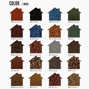 金属の屋根瓦との高い防蝕着色された石造りの上塗を施してある