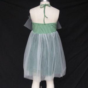 衣裳の結婚披露宴の女の子の子供の子供の王女Summerテュルのガウンの白く軽くて柔らかい服