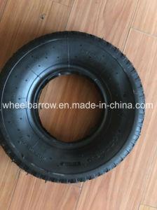3.50-4 압축 공기를 넣은 고무 바퀴, 강철 변죽을%s 가진 외바퀴 손수레 타이어
