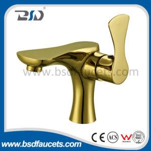 Lavabo de oro de cobre amarillo montado cubierta Tapware