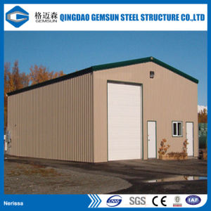 Galpón Industrial Design almacén de estructura de acero Construcción prefabricados en la fábrica.