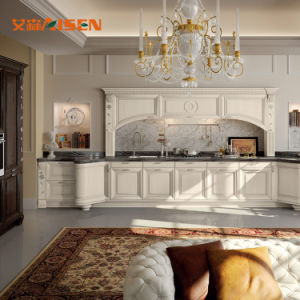 Gute Service-Fabrik-königliche festes Holz-Luxuxküche-Möbel