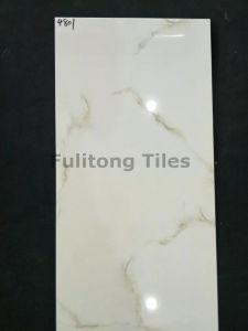 De witte Grijze Ceramische Waterdichte Glanzende Tegels van de Muur