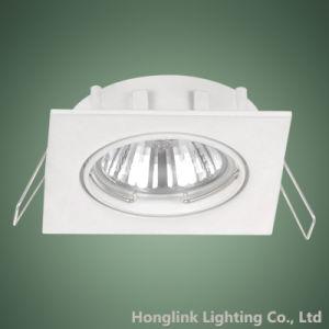 Weißes Aluminium GU10 MR16 LED justierbare Decke vertieftes quadratisches Downlight