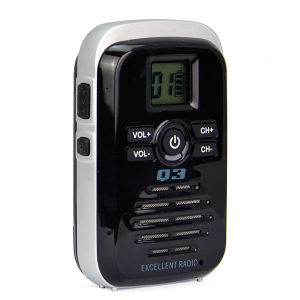 小型手持ち型のラジオUHFの携帯無線電話Q3