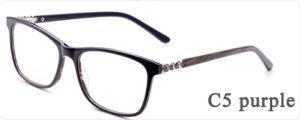 De online Glazen van de Frames van het Metaal van de Acetaat van Goederen Optische met Glas van het Oog van de Bril van Eyewear van de Voorraad van de Oogglazen van de Decoratie van het Metaal het Klaar