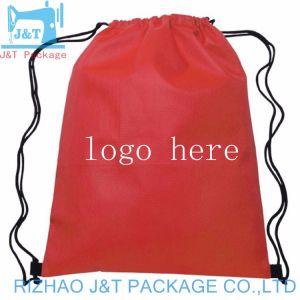 Sac de coton coulisse des chaussures en toile Sac avec lacet de serrage, coulisse non tissé, sac de coton