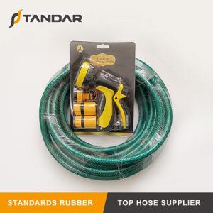 Suave pressão flexível de água de PVC trançado de fibra de mangueira de jardim