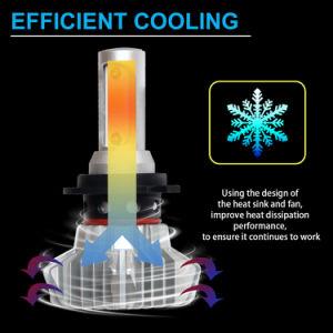 Super brillante 8000LM 9005 9006 9012 H11 H7 H4 Faro de alta potencia Lámpara de luz LED Auto