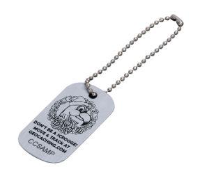 Дешевые Custom металлические ПЭТ ID тегов персонализированные спереди и сзади гравировка собака метки (ele-DT010)