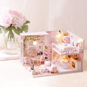 DIY Cuteroom Doll House Dom Crianças Miniatura Toy L-022