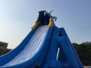 Faites glisser l'Hippopotame gonflables géants de l'eau pour les adultes / grand toboggan gonflable pour la vente