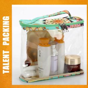 カスタム透過PVC袋の装飾的な記憶のゆとりPVCジッパー袋