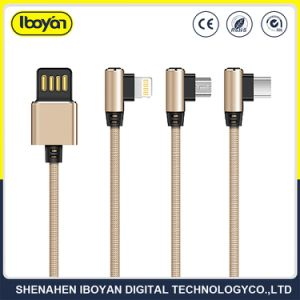 USB elettrico mobile portatile del lampo di dati del telefono 2.4A che carica Cable