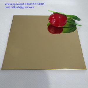 Strati decorativi dell'acciaio inossidabile di rivestimento dello specchio di colore dell'oro dello strato degli ss 304