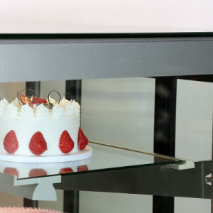 Cinco camadas Exibir Armário vitrina de bolos Trapezoidal com corpo de aço inoxidável