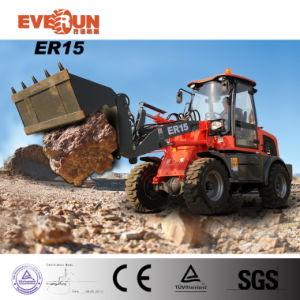 Ce van het Merk van Everun keurde Gearticuleerde Kleine Lader 1.5ton goed