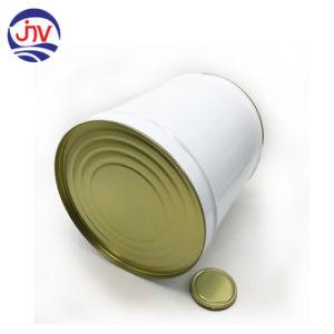 Personalizada 5 galón 18 litros de pintura el cubo de acero con revestimiento blanco