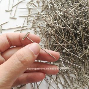 Schneller des Verbrauchsmaterial-44mm flacher Stabhauptpin Längen-des Silber-T für Perücken und Schmucksache-Bildschirmanzeige