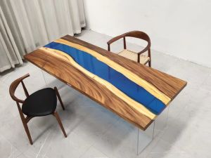 La resina y madera de nogal de América del Sur de la Mesa estilo río