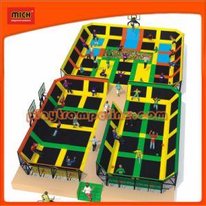 Neuestes Produkt-Fabrik-Großverkauf-lustige Trampoline-Park-Kind-Innenspielplatz-Schlag-Bett Zhejiang-Mich