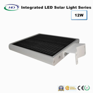 Ce y RoHS Certificado 12W PIR Sensor Integrado LED Solar Garden / Street Light