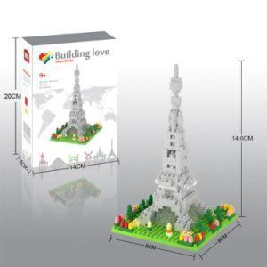 14889406マイクロブロックキットの建物シリーズブロックは創造的な教育DIYのおもちゃ310PCS -エッフェル塔--をセットした