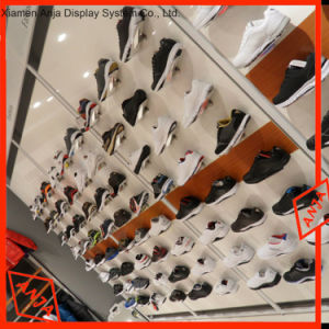 Simple Tabla atractiva pantalla de zapatos de madera escaparate para Centro Comercial