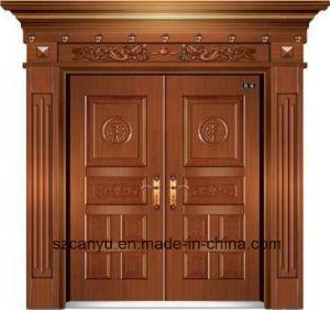 Porta de Bronze artesanais de alta qualidade com design moderno e filho