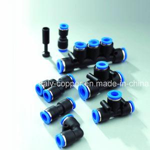 Neumático de plástico empujando racores de conexión de aire (AV-PU-1001)