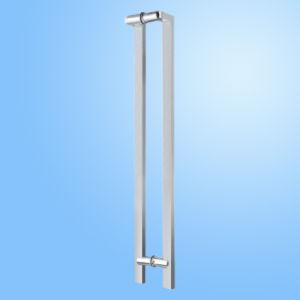Punho de vidro da tração da porta do aço inoxidável