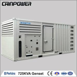 725kVA électrique silencieuse au meilleur prix pour 580kw Puissance Diesel générateurs de l'usine militaire défini pour conteneur frigorifique alimenté par les moteurs Perkins