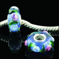Parel van het Glas van Murano van de Kern van Veess de Echte Zilveren Enige
